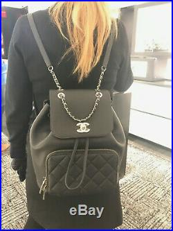 Chanel Business Affinity Backpack Black Caviar Leather