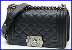 Chanel Perfect, Large Lambskin Quilted Pattern Boy Bag