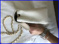 Chanel White Mini Flap Rare CC Gold Hardware Bag authenticpristine