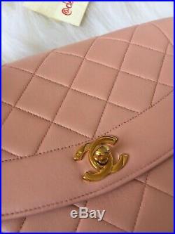 Chanel diana Vintage Medium Flap Pink Gold Hardware