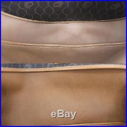Christian Dior Honey Combo Shoulder Bag Dark Gray PVC Vintage Authentic #LL901 O
