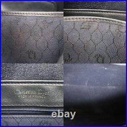 Christian Dior Honey Combo Shoulder Bag Navy Canvas Vintage Authentic #AB99 O