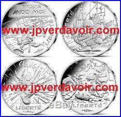 FRANCE Astérix 12 x 10 Euro Argent Valeurs de la République 2015 VAGUE 2