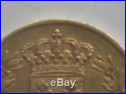 FRANCE gold or 40 francs Charles X 1830 Paris 2nd type 12.90 grams bought at CGB