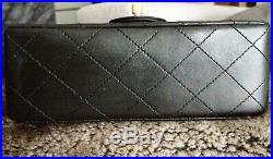 FULL SET CHANEL Black Quilted Lambskin 24K Gold Chain Mini Crossbody Flap Bag