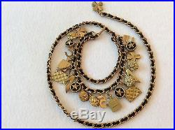 Famous Vintage Chanel'94a Gold Plated 21 Charm Belt/ Necklace
