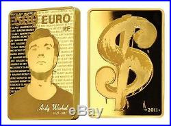 France 2011 Andy Warhol 5000 Euro 1 Kilo Gold Proof Coin #8 of only 29 Minted