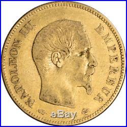 France Gold 10 Francs (. 0933 oz) Napoleon III Bare Avg Circ Random Date