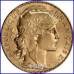 France Gold 20 Francs (. 1867 oz) Rooster BU Random Date