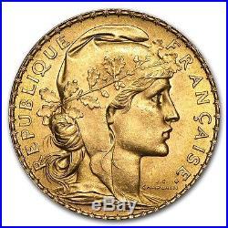 France Gold 20 Francs French Rooster AU (Random) SKU #152604