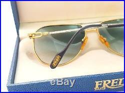 Fred America Cup Paris Nos 60mm Lenses Vintage Sunglasses France 18k