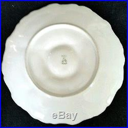 French France Depose Hand Paint Porcelain Oyster Plate Gold Gilded Detail