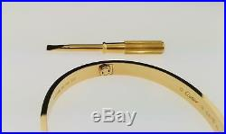 Genuine Cartier Love Bracelet 18k Yellow Gold Size 19 Ref B6035517 New 2018 B+P