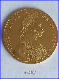 Goldmünze Österreich Austria Franc Joseph I 4 Dukaten, 13,76 Gramm 1915