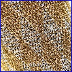 HALSTON Vintage Gold Lurex Evening Dress Designer Gown & Jacket 70s Disco Regal