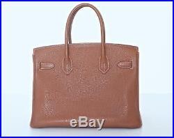 HERMES 30 BIRKIN Gold Togo Gold Hardware BOX Handbag Bag Satchel AUTHENTIC