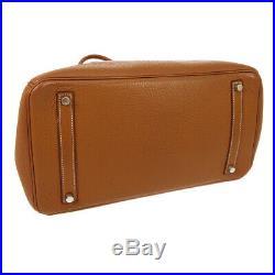 HERMES BIRKIN 35 Hand Bag B7 I Gold Traurillon Clemence France Vintage RK14508
