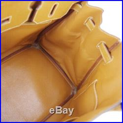 HERMES BIRKIN 35 Hand Bag Gold Veau Graine Couchevel Authentic Z 20X S09731