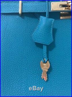 HERMES Birkin 30 Togo Turquoise GHW R-Square 2014
