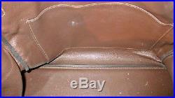 HERMES Birkin 40 cm Dark Brown Leather Gold Hardware Bag with Lock & Key