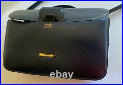 HERMES DOLLY Shoulder Bag Navy Box Calf Gold Hardware Authentic HERMES