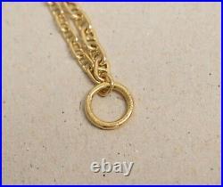 HERMES Farandole Solid 18K Yellow Gold Chaîne d'Ancre Double Link Bracelet