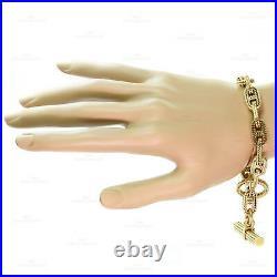 HERMES George L'Enfant Chain d'Ancre 18K Yellow Gold Medium Bracelet