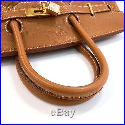 HERMES Gold Hardware Birkin 35 Handbag Togo Women