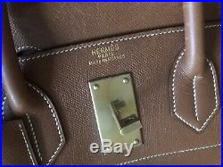 HERMES HAC 50 cm Haut-A-Courroie Birkin Gold Courchevel Gold Hardware