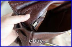 HERMES KELLY 35 gold Chocolat Clemence 1999 ladies bag purse genuine gold brown