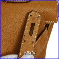 HERMES KELLY 40 RETOURNE Hand Bag X 18 Gold Ardennes Leather RK14453