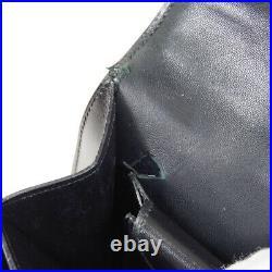 HERMES MODERNIST Hand Bag J Purse Black Gold Box Calf France Vintage AK25950i