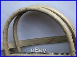 HERMES Ostrich Beige Ivory Bolide 31 cm Gold Hardware Authentic HERMÈS Rare
