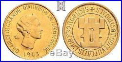 HMM Luxemburg Charlotte 20 Francs 1963 Tausendjahrfeier GOLD Stgl. 170523004