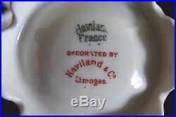 Haviland Limoges France Schleiger 456 Set of 8 Salt Cellars Gold Daubs
