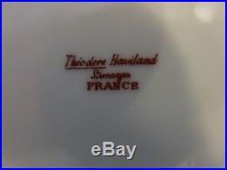 Haviland Schleiger Limoges France Sugar Bowl with Lid Pink Purple Gold