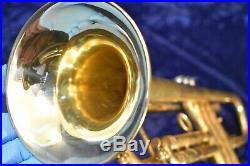 Henri Selmer Paris K-Modified 24B Trumpet Raw Brass Satin Finish withcase, mpc