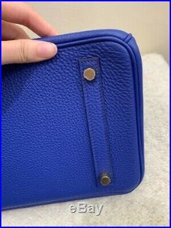 Hermes Birkin 30 Togo Bleu Electrique Gold Hardware