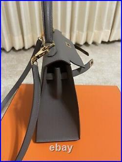 Hermes Etain Epsom Sellier Kelly 25cm Gold Hardware