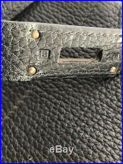 Hermes HAC 45 cm Birkin Black Fjord Gold HW Authentic HERMÈS Haut-A-Courroie