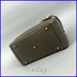 Hermes Lindy Gold GHW Size 30 Grey Taupe Togo Leather Tote Shoulder Bag Handbag