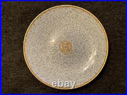 Hermes MOSAIQUE AU 24 Gold Round Plate