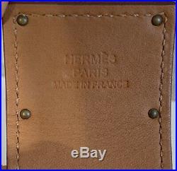 Hermes Womens Brown Leather Gold Tone Kelly Dog Bracelet