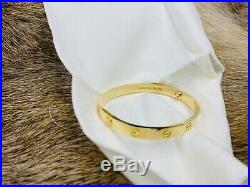 Immaculate Cartier Love Bracelet Bangle 18K Yellow Gold Size 17