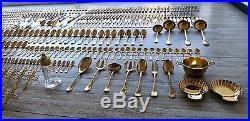Kings French Christofle Marly Gold Plated Luxurious Flatware Set 528 Pieces