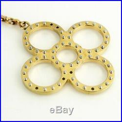 LOUIS VUITTON BIJOUX SAC TAPAGE Key Ring Bag Charm M65090 Gold Silver with Box
