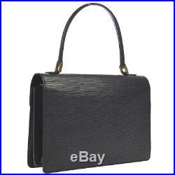 LOUIS VUITTON CONCORDE HAND BAG SATCHEL PURSE BLACK EPI M52132 A20913 AK38133a