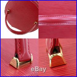 LOUIS VUITTON Cannes Hand Bag Red Epi Leather M48037 Vintage Authentic #GG880 O