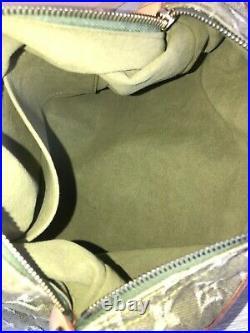 LOUIS VUITTON GREEN MONOGRAM DENIM BAGGY PM Shoulder Bag Tote