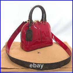 LOUIS VUITTON Handbag M52498 Alma BB Vernis/Gold Hardware Women